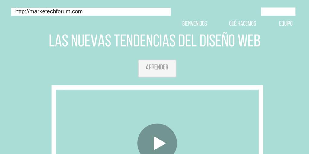 nuevas tendencias del diseño web