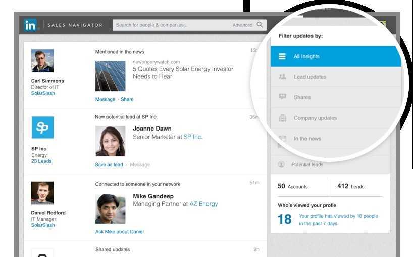 Sales Navigator de LinkedIn