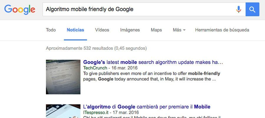Algoritmo mobile friendly de Google | MarTech FORUM