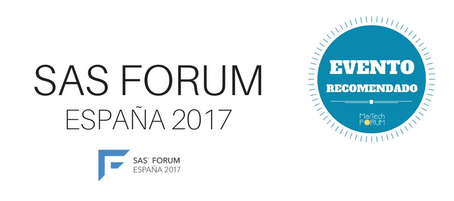 sas forum españa 2017 MarTech FORUM